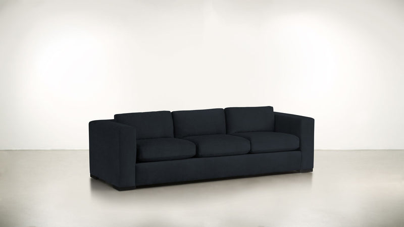 The Stylist Sofa 8' Sofa Structured Velvet Eclipse / Blackw Whom. Home