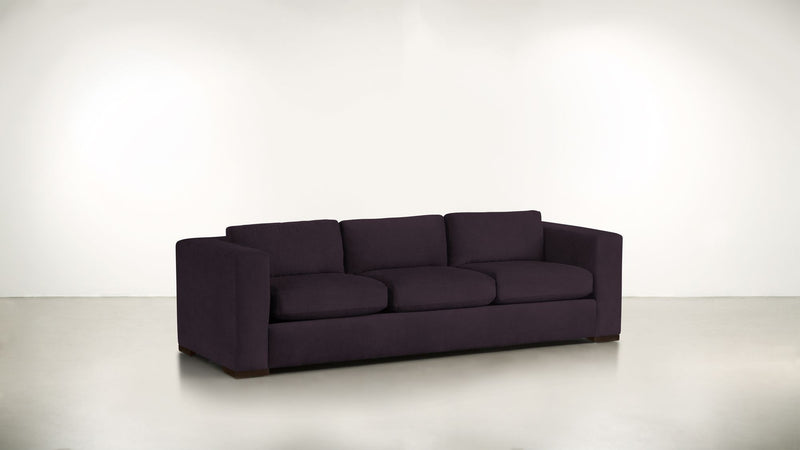 The Stylist Sofa 8' Sofa Structured Velvet Vineyard / Chocolate Whom. Home