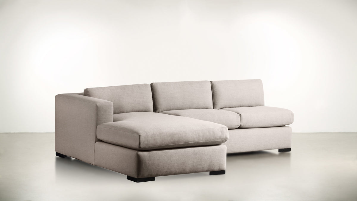 The Trash Talker L Modular Sectional Classic Linen Weave Oatmeal / Blackw Whom. Home