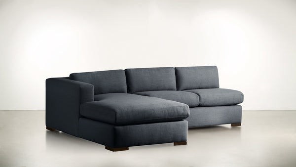 The Stylist L Modular Sectional L Modular Sectional Classic Linen Weave Navy / Chocolate Whom. Home