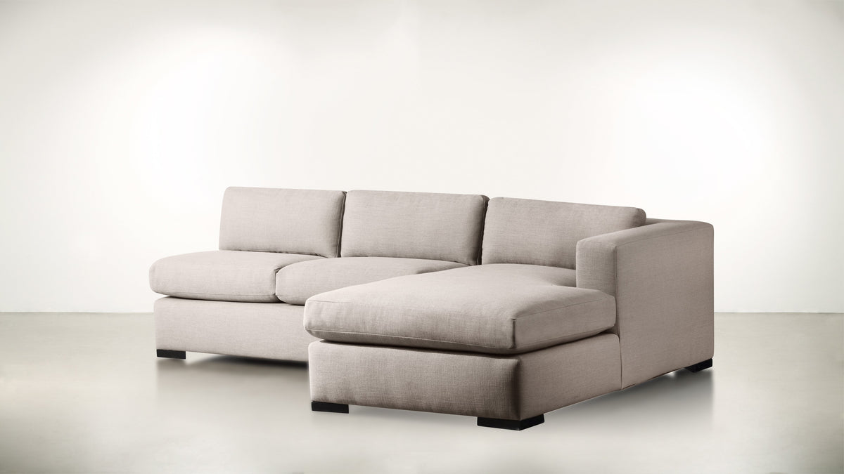 The Trash Talker R Modular Sectional Classic Linen Weave Oatmeal / Blackw Whom. Home