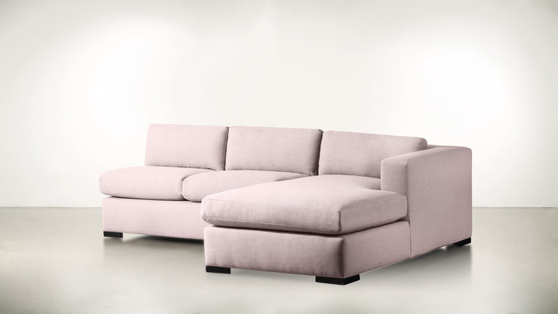 The Stylist R Modular Sectional R Modular Sectional Classic Linen Weave Blush / Blackw Whom. Home