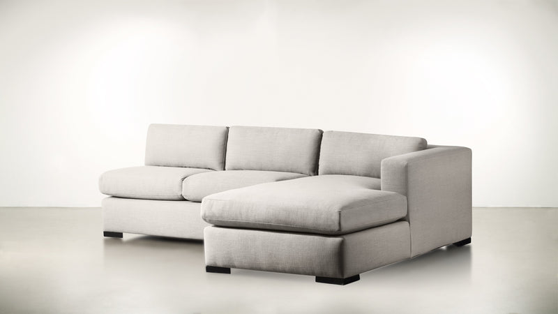 The Stylist R Modular Sectional R Modular Sectional Structured Linen Weave Dove / Blackw Whom. Home
