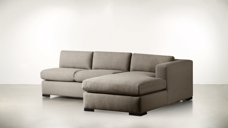 The Stylist R Modular Sectional R Modular Sectional Structured Linen Weave Taupe / Blackw Whom. Home