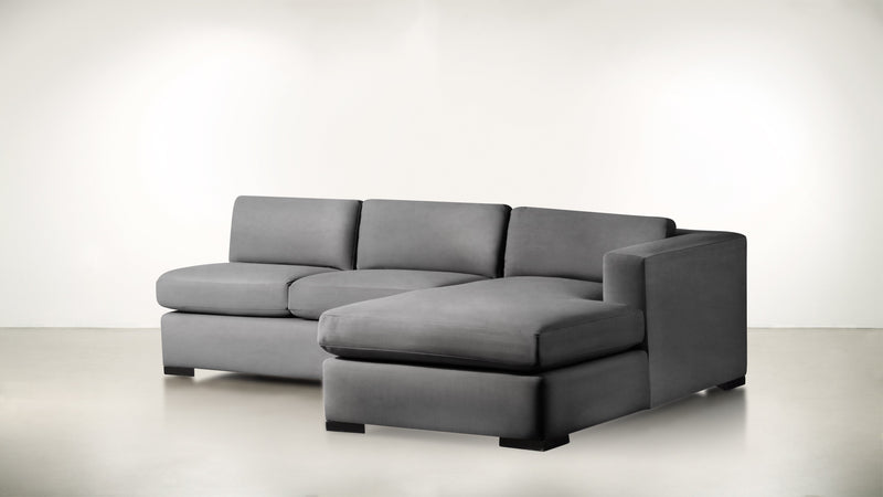 The Stylist R Modular Sectional R Modular Sectional Structured Velvet Gladiator Gray / Blackw Whom. Home