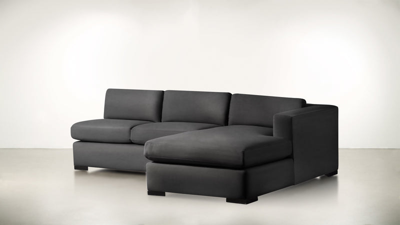 The Stylist R Modular Sectional R Modular Sectional Structured Velvet Sterling / Blackw Whom. Home