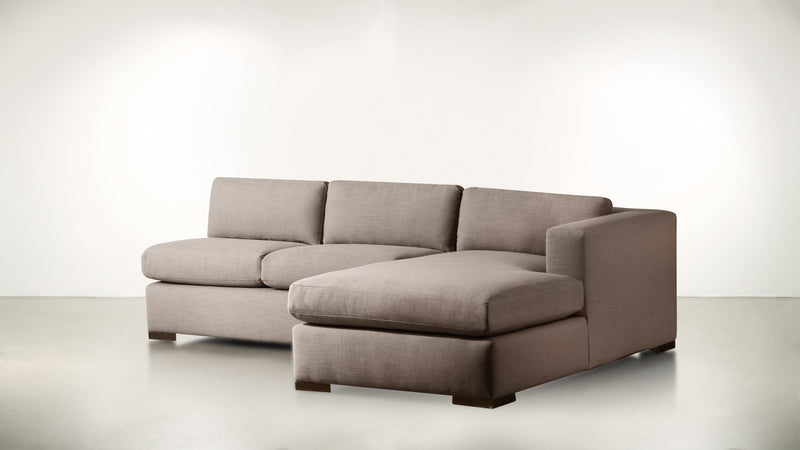 The Stylist R Modular Sectional R Modular Sectional Classic Linen Weave Mink / Chocolate Whom. Home