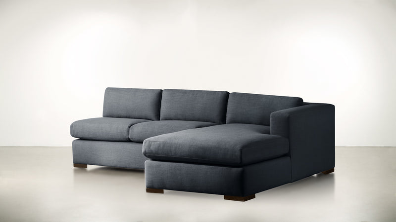 The Stylist R Modular Sectional R Modular Sectional Classic Linen Weave Navy / Chocolate Whom. Home