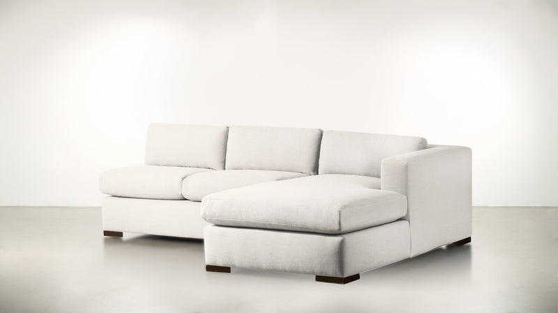 The Stylist R Modular Sectional R Modular Sectional Classic Linen Weave Oatmeal / Chocolate Whom. Home