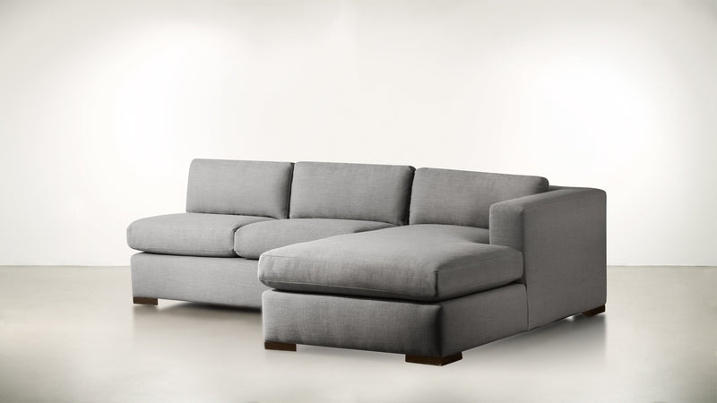 The Stylist R Modular Sectional R Modular Sectional Classic Linen Weave Smoke / Chocolate Whom. Home