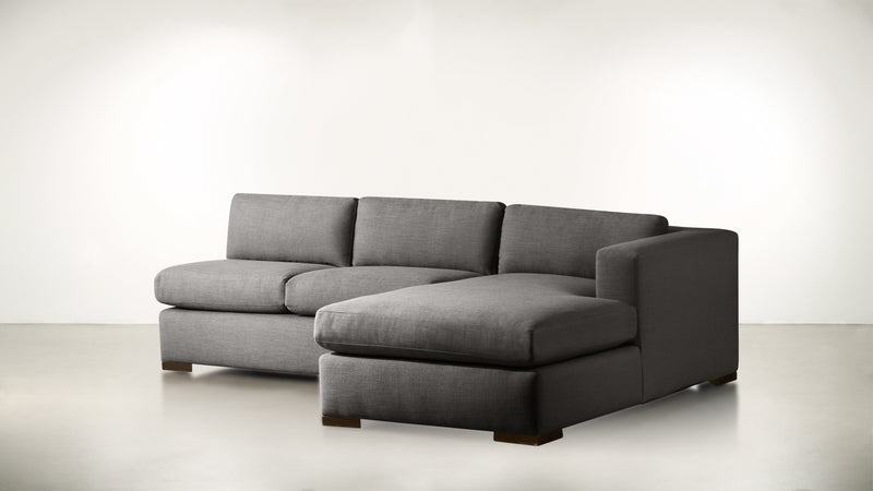 The Stylist R Modular Sectional R Modular Sectional Structured Linen Weave Charcoal / Chocolate Whom. Home