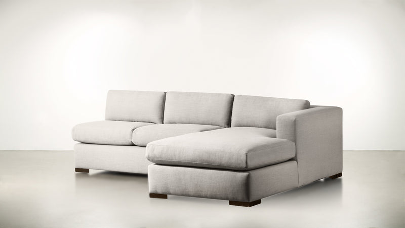 The Stylist R Modular Sectional R Modular Sectional Structured Linen Weave Dove / Chocolate Whom. Home