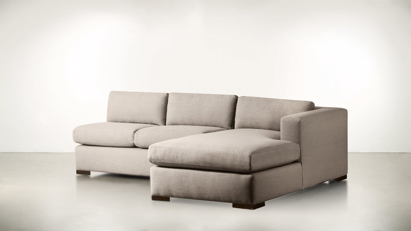 The Stylist R Modular Sectional R Modular Sectional Structured Linen Weave Sand / Chocolate Whom. Home