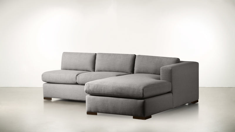 The Stylist R Modular Sectional R Modular Sectional Structured Linen Weave Steel / Chocolate Whom. Home
