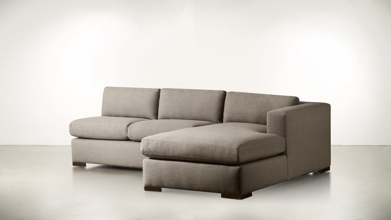 The Stylist R Modular Sectional R Modular Sectional Structured Linen Weave Taupe / Chocolate Whom. Home