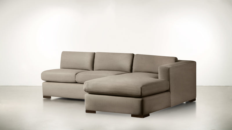 The Stylist R Modular Sectional R Modular Sectional Structured Velvet Biscotti / Chocolate Whom. Home
