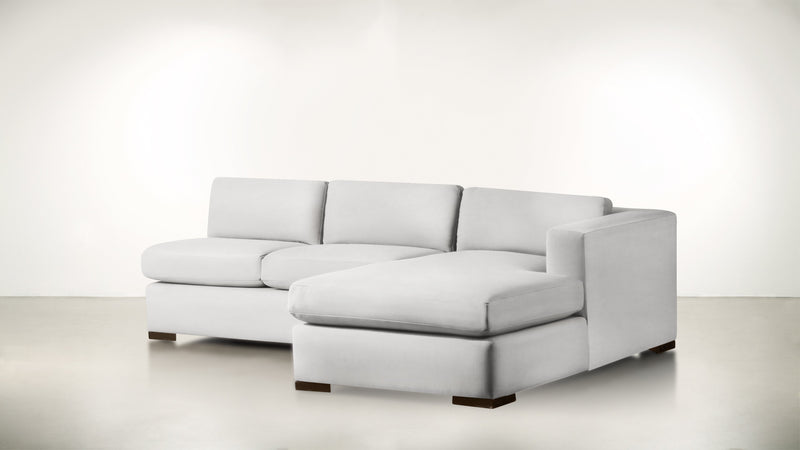 The Stylist R Modular Sectional R Modular Sectional Structured Velvet Divine / Chocolate Whom. Home
