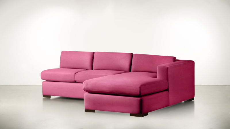 The Stylist R Modular Sectional R Modular Sectional Structured Velvet Flamingo / Chocolate Whom. Home