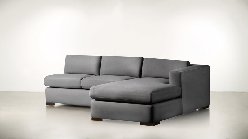The Stylist R Modular Sectional R Modular Sectional Structured Velvet Gladiator Gray / Chocolate Whom. Home