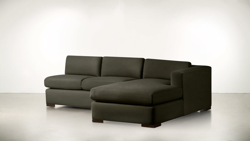 The Stylist R Modular Sectional R Modular Sectional Structured Velvet Malachite / Chocolate Whom. Home