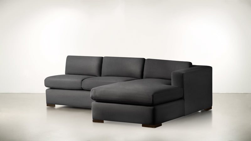 The Stylist R Modular Sectional R Modular Sectional Structured Velvet Sterling / Chocolate Whom. Home