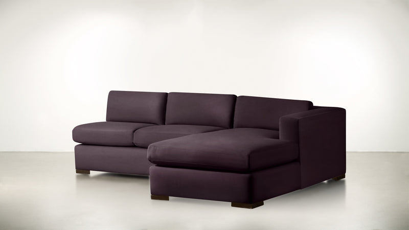 The Stylist R Modular Sectional R Modular Sectional Structured Velvet Vineyard / Chocolate Whom. Home