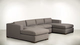 The Stylist Modular Sectional 3-Piece Set Classic Linen Weave Almond / Chocolate Whom. Home