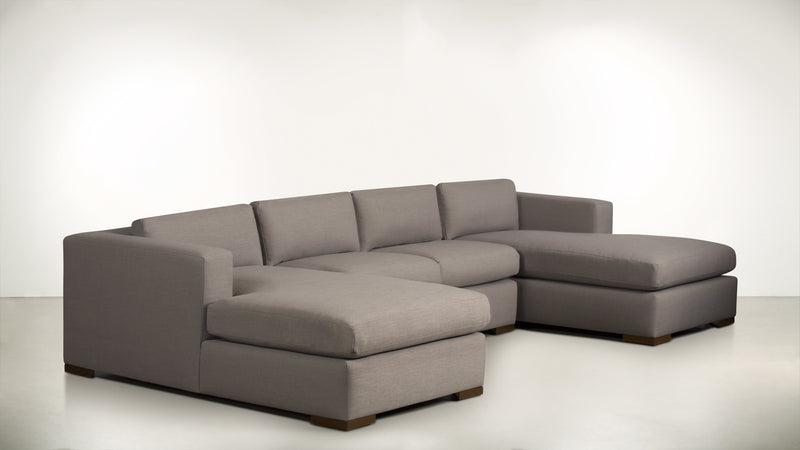 The Stylist Modular Sectional 3-Piece Set Classic Linen Weave Almond / Hazel Whom. Home