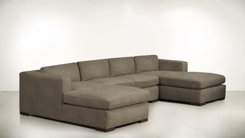 The Stylist Modular Sectional 3-Piece Set Structured Velvet Biscotti / Hazel Whom. Home