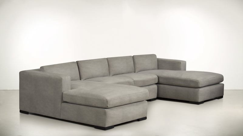 The Stylist Modular Sectional 3-Piece Set Structured Velvet Divine / Blackw Whom. Home