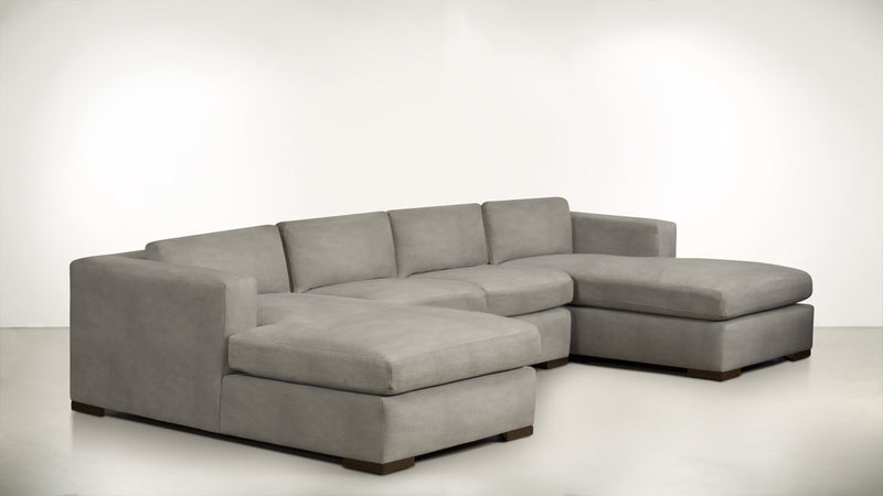The Stylist Modular Sectional 3-Piece Set Structured Velvet Divine / Chocolate Whom. Home