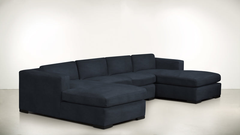 The Stylist Modular Sectional 3-Piece Set Structured Velvet Eclipse / Blackw Whom. Home