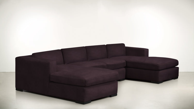 The Stylist Modular Sectional 3-Piece Set Structured Velvet Vineyard / Blackw Whom. Home