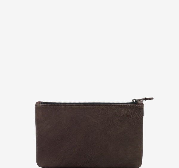 ro SAVANNA Premium Zip Flat Pouch | Urban Leather Bags & Accessories | robags.com
