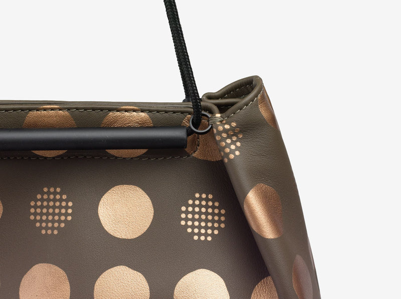 ro Leather Gyoza Small Dumpling Bag (Dot Pattern) | Urban Leather Bags & Accessories | robags.com