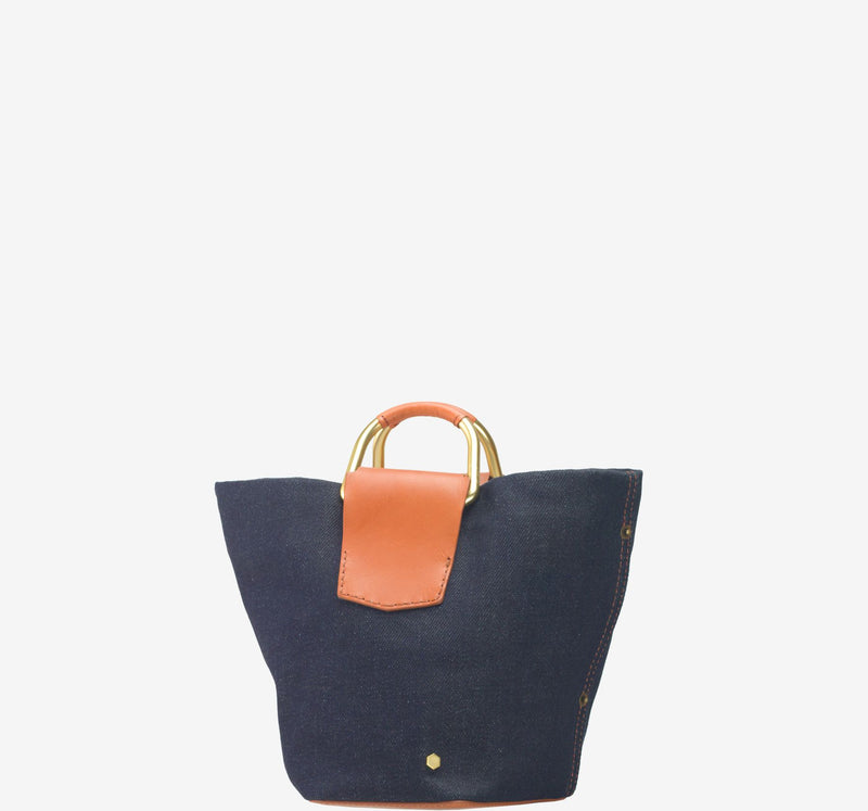 ro Galleon Denim Small Bucket Bag | Urban Leather Goods & Accessories | robags.com