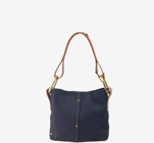 Galleon Denim Small Bucket Bag
