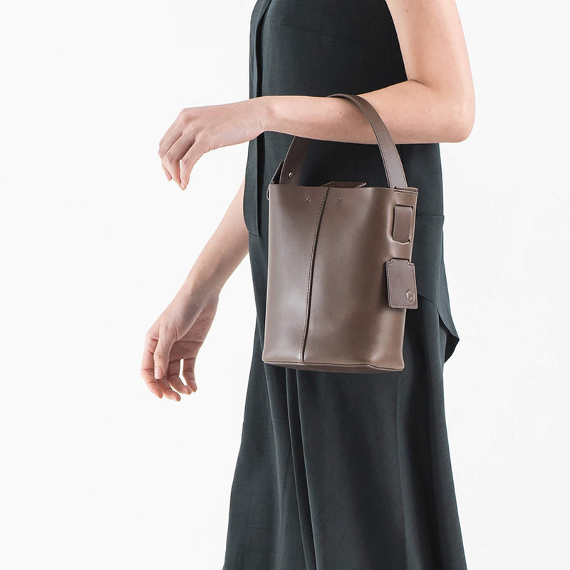 ro Felucca Top Handle Mini Bucket Bag | Urban Leather Bags & Accessories | robags.com