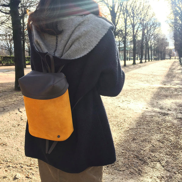 Suede Small Backpack