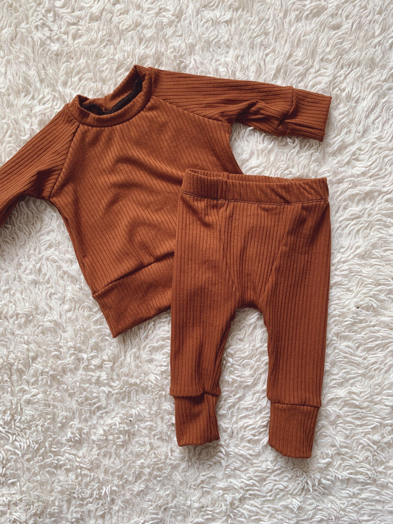 Rib Knit Lounge Set