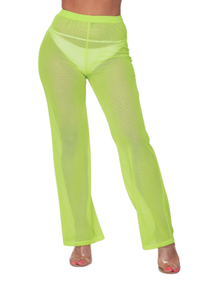 Hazel Cover Up Pants - Neon