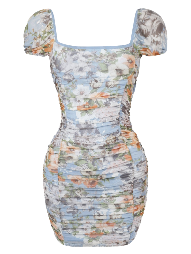 Perla Dress - Blue Rust