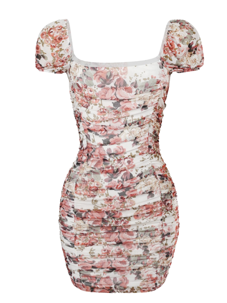 Perla Dress - Ivory Rose