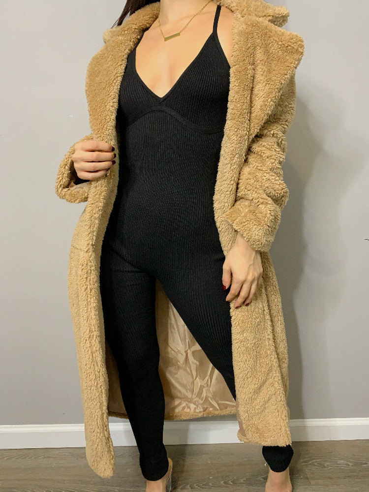 EB Teddy Coat - Taupe
