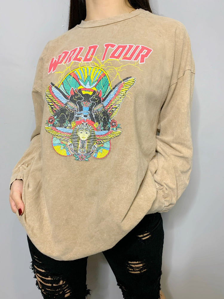 World Tour Longsleeve - Sand