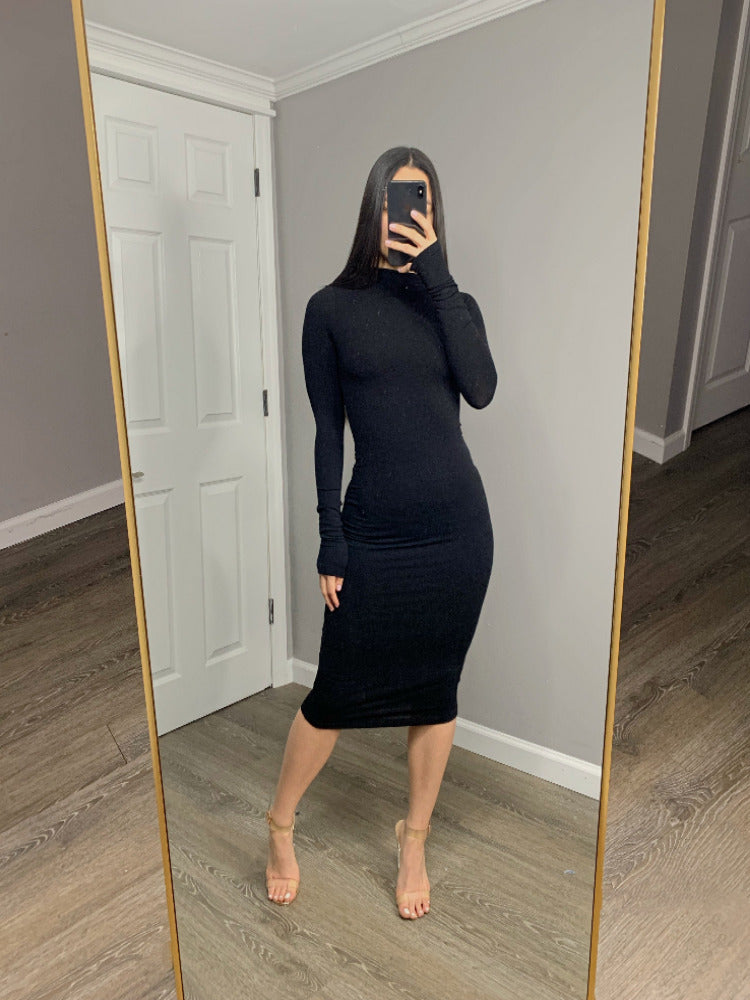 Staple Basic Midi Dress - Black