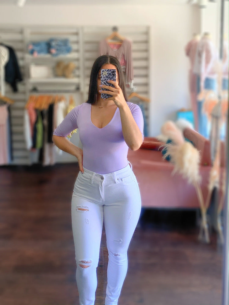April Bodysuit - Lavender
