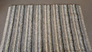 Living Room, Dining Room or Family Room Rug - 6' X 9' Black, Gray & Oatmeal