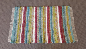 4' x 6' Confetti U. S. HAND WOVEN Large Area Textured Rag Rug