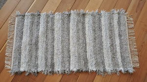 "Kitchen, Bathroom, Bedroom or Door Entry Rug - 24"" x 46"" Gray & White"